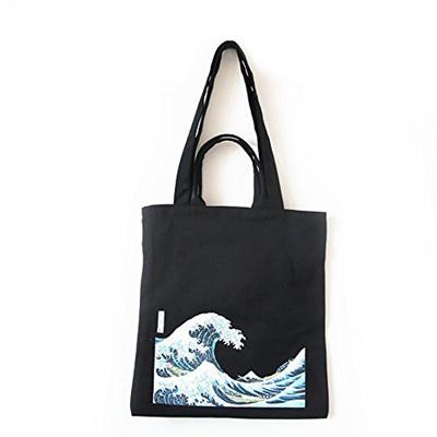 Qoo10 - ASAPS Canvas Tote Bag Black Print Design   Bag   Wallet bae18a4169e89