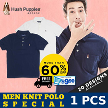 MENS KNIT POLO SPECIAL! FREE DELIVERY! CHOOSE FROM 20 DESIGNS!