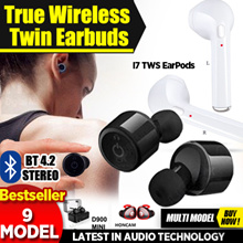 20 MODELS !! New BT5.0 !! True Wireless Twin Earbuds ! Sports Bluetooth Headset