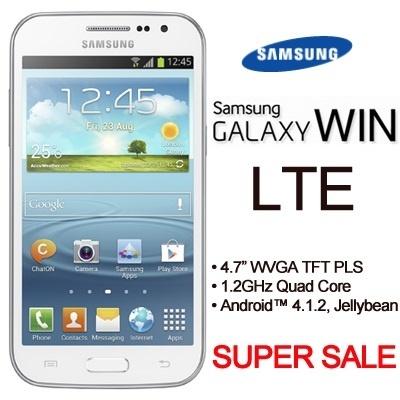 Qoo10 - [SUPER SALE!]Samsung Galaxy Win(LTE 4G)/1 2GHZ QUAD Core/4 7