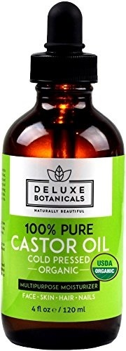 Organic Castor Oil - 4 oz - 100% Pure, Unrefined, Cold Pressed & Hexane Free - Best for Hair Grow...
