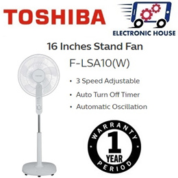 ★ Toshiba F-LSA10(W)SG 16 Inches Fan Blade Stand Fan W/ Timer ★ (1 Year Singapore Warranty)