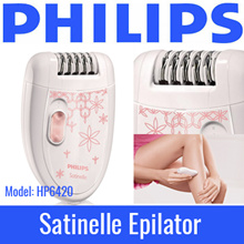 PHILIPS - Satinelle Epilator - MODEL: HP6420 / HP6159