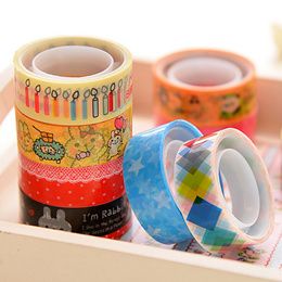 CN/_ NE/_ 10X Cute Cartoon Tape Scrapbook Adhesive Paper Sticker Kids Handcraft