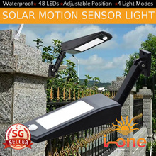 Solar  Motion Sensor Light 48 LEDs Waterproof outdoor PIR Lamp Outdoor Garden