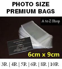 [PHOTO SIZE] Self Adhesive Clear OPP Transparent Packaging Poly Plastic Bags Retailer clothes PP