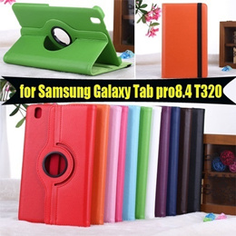 Tab Pro 8.4 T320 Rotate Case with Stand For Samsung GALAXY Tab pro 8.4 PU Leather Cover