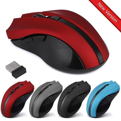 Stunning Cordless Wireless 2.4GHz Optical Mouse Mice for Laptop PC Computer +USB Receiver