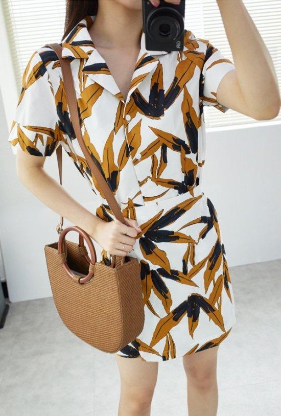 イニク、マリブラップOPSワンピース 綿ワンピース/ 韓国ファッション