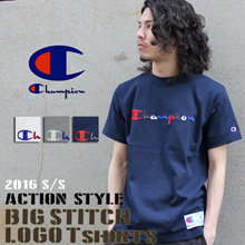 AUTHENTIC UNISEX Champion T Shirt Short Sleeve with Embroidered Logo Japan Version C3-H371 Unisex