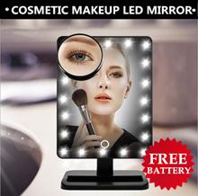 16/22 LEDs Brightness Adjustable Cosmetic Makeup Lighted Magnifier Shower Room Mirror