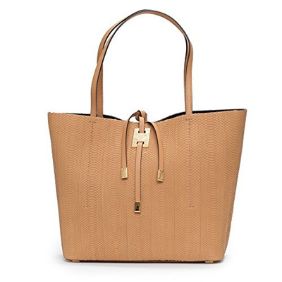 7d3798c79e5c (Michael Kors) Michael Kors Collection Miranda Peanut Tan Large East West  Tote Snake Leather Bag... Rating  0  Free  S 2