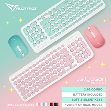 BEST SELLER! Wireless Keyboard and Mouse Combo - Retro Design Slim and Low Profile / UV Coated Keycaps / 1200 CPI Optical Mouse. 2 Years Local Warranty
