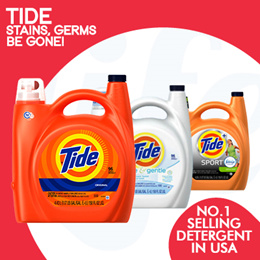 [PnG] BUY 2 FREE SHIPPING! Tide - No.1 Best Selling Detergent in the U.S