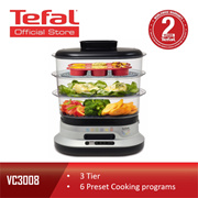 Tefal 3 Tier 10L Digital Automatic Food Steamer Steam N Light VC3008