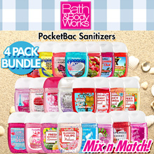 Hand Sanitizer 4 PACK BUNDLE [100% Authentic] Bath N Body Works PocketBac HandGel 29ml