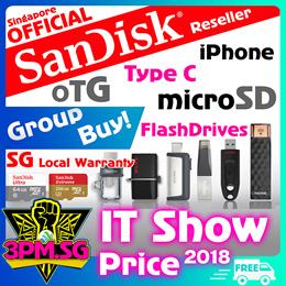 Sandisk Singapore Lifetime Warranty Full Series SD Card MicroSD Thumbdrive 16GB 64G 128GB SSD