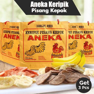 KERIPIK BKS PISANG KEPOK ANEKA RASA Deals for only Rp56.000 instead of Rp56.000