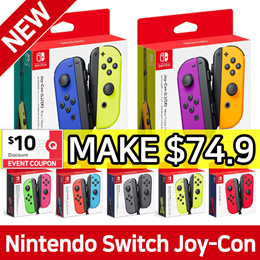 Nintendo Switch JOYCON Controllers Set ★ Neon Green Pink / Neon Red Blue / Grey / Neon Yellow