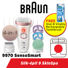 Braun Silk-épil 9 9970 SkinSpa SensoSmart™ Epilator Rose gold - 4-in-1 epilator exfoliation
