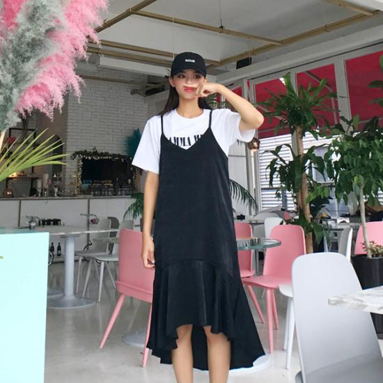 欲しいかロメンティクフルワンピース 塔/袖なしのワンピース/ 韓国ファッション