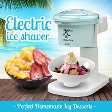 Electric Ice Shaver Crusher Quiet Strong Motor Stainless-Steel Blade Dessert Ice Kachang Easy Use