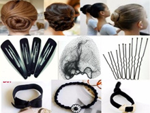 ♥ Black ♥  Hair Clips /Hair Ties /Hair Nets /U pins