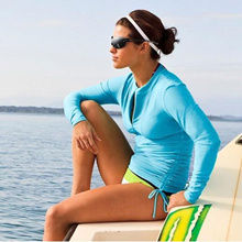 UPF 50+ Anti-UV Long Sleeve Women Rash Guard /Swimsuit/Swimwear/ Swim suit/Swim Top/Swimming Suit/ Wet Suit/Beach Wear/Bikini