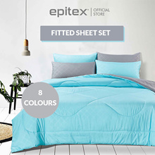 Epitex | Homu 900TC Single Solid Colour Bedsheet | Bedset | Fitted Sheet | 8 Colours Available