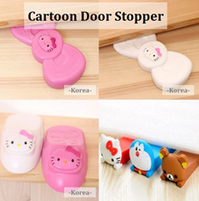 🌸 Hello Kitty Korea Ribbon Door Stopper 🌸 Rilakumma Doraemon Stitch Door Stopper 🌸 Child Safety