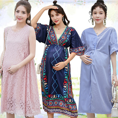 b4a0f15421f47 Maternity Maternity/Suit/plus size/Loose Fit/Leisure/Dress/Pregnant