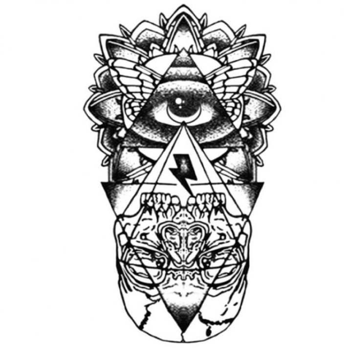 Qoo10 Cool Waterproof Temporary Tattoo Sticker God Eye Totem Body Art Fake T Bath Body