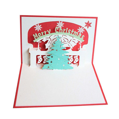 Pop Up Christmas Cards.Merry Christmas 3d Pop Up Christmas Tree Greeting Cards For Gift Collection Congratulation Card Hand