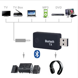 Hot For Computer TV 3.5mm Audio Adapter Bluetooth Audio Music Transmitter TX9 Multi-Functional Bluetooth 3.0 Transmitter