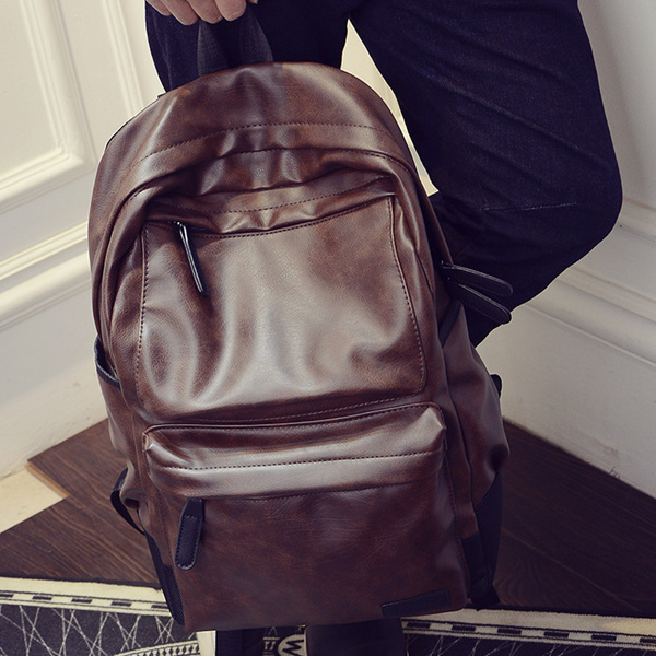 Backpack For Men Genuine Cow Leather Travel Computer Bag Deals for only S$35.9 instead of S$35.9