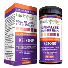 [Qprime]125 Ketone Test Strips. Testing Levels of Ketones Diabetics LCHF Ketogenic Atkins Paleo Diet