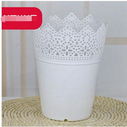 2 pcs Artificial flower buds plastic vase hollow vase color desktop vase