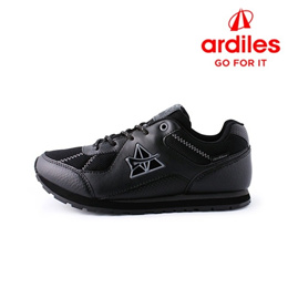 [Ardiles] Reventon Sepatu Sekolah Anak Hitam Abu Tua-REVENTONHAT