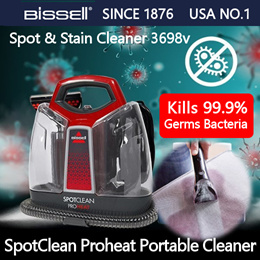 [USA No1] Bissell Multi-purpose Wet Cleaner Spot Clean (Proheat) 3698V / FREE VOLT / 1Year Warranty