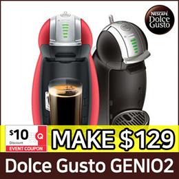 [NESCAFE] DOLCE GUSTO GENIO 2 COFFEE MACHINE / Automatic / BLACK / RED