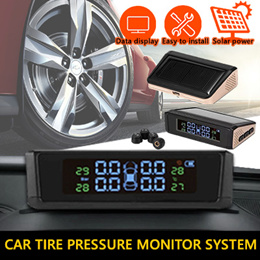 ★SG SELLER★2019 DESIGN★Car Tire Pressure Alarm Monitor System TPMS LCD Display Solar Powered