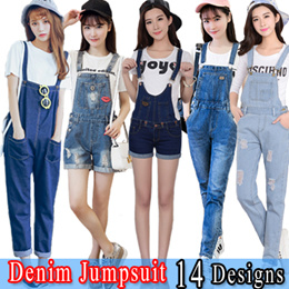 a04b3a2e42d2  Gift Wrapping Denim Jumpsuit Loose Pants Cropped Trousers Women Jumpsuit  New Fashion NZK1708