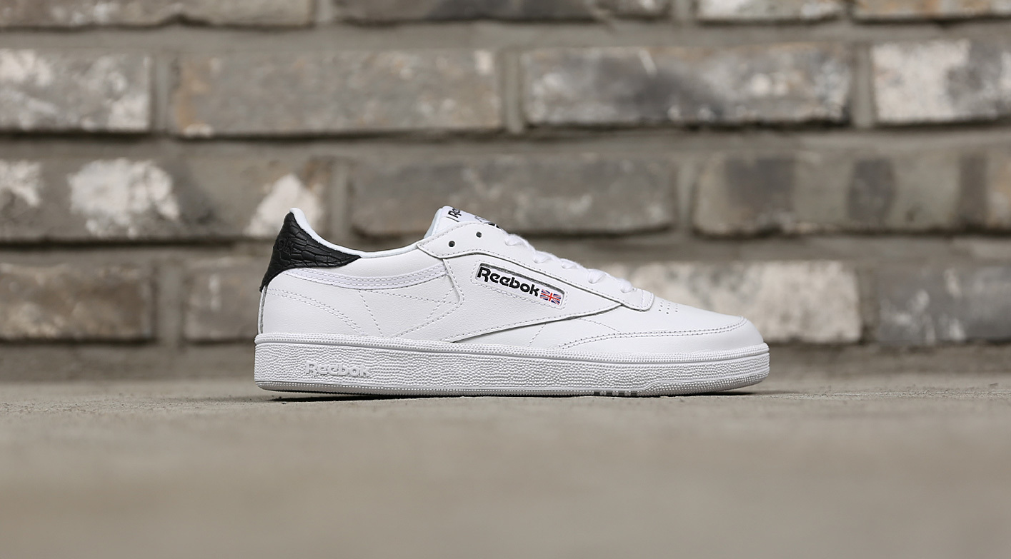 822ad918709e7 Show All Item Images. close. fit to viewer. prev next.  REEBOK  CLUB C 85  EMBOSS BS9526 WHITE BLACK