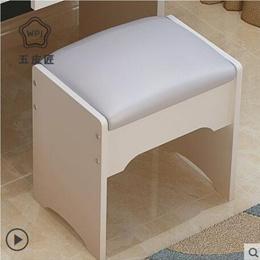 梳妆台凳子家用卧室现代简约网红化妆换鞋小凳子化妆桌美容美甲椅