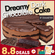 ★ Dreamy Dark Chocolate Cake ★ Ingredients From Europe and Valrhona ® Couverture ★ 8inch Diameter