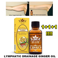 SPECIAL SALE 1+1+1 ❤ LYMPHATIC DRAINAGE GINGER OIL ❤ NATURAL PLANT THERAPY ❤ 30 ML EACH