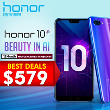 HONOR 10 (4GB+128GB) / 12 MONTHS LOCAL MANUFACTURER WARRANTY