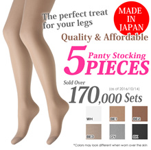 5-piece 15-Denier Nylon Tight Set (Made in Japan)(B29NEW50)