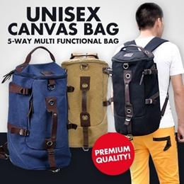 Local Delivery *2014 New Arrival 7 Colours Premium Quality* Fashionable Unisex Canvas Bag|Large Capacity 5Way Carry Backpack|Multi Functional Laptop Tablet Gadgets Sports Bag