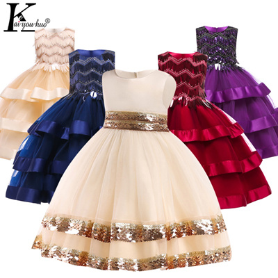 99696e92664d1 Kids Dresses For Girls Wedding Dress Elegant Children Princess Evening  Party Dresses Toddler Flower